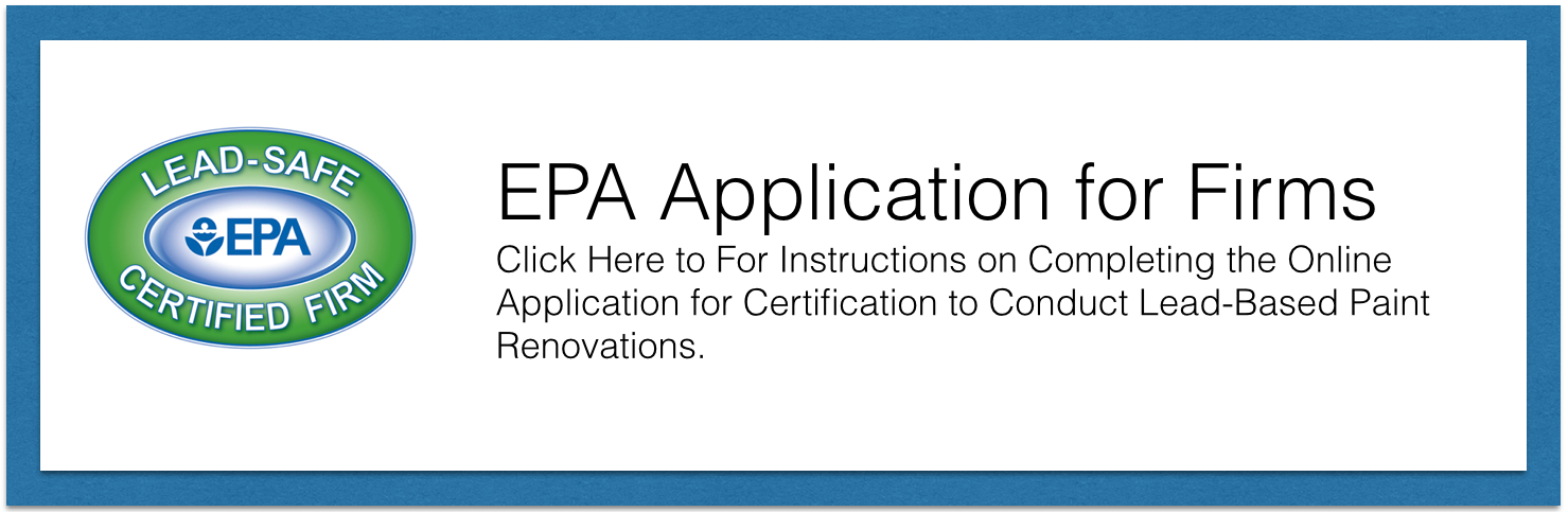 Epa Lead Safe Firm Certification Your Source For Information On
